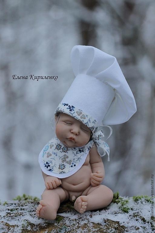 Куклы-младенцы и reborn ручной работы. Ярмарка Мастеров - ручная работа. Купить Шеф-повар. Handmade. Белый, колпачок