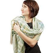 Аксессуары handmade. Livemaster - original item Top quality pashmina cashmere stole with Magic waves pattern. Handmade.