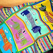 Для дома и интерьера ручной работы. Ярмарка Мастеров - ручная работа покрывало детское пэчворк  ТАКСЫ 3  детское покрывало пэчворк. Handmade.