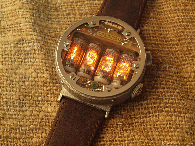 Часы на газоразрядном индикаторе в стиле Метро 2033, Атрибутика субкультур, Санкт-Петербург,  Фото №1