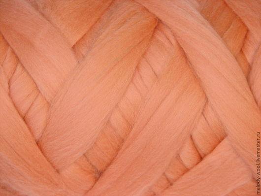 Валяние ручной работы. Ярмарка Мастеров - ручная работа. Купить Шерсть для валяния меринос 18 микрон цвет Румяна (Rouge). Handmade.