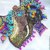 """Украшения ручной работы. Ярмарка Мастеров - ручная работа Колье в индийском стиле """"Elephas maximus"""" праздник. Handmade."""