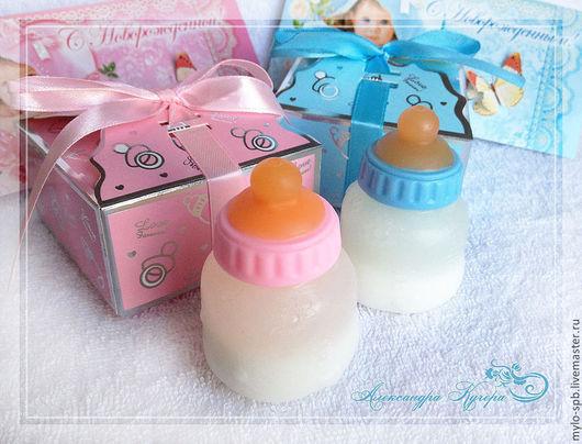 Подарочные наборы косметики ручной работы. Ярмарка Мастеров - ручная работа. Купить Подарочный набор мыла ручной работы на рождение ребенка. Handmade.