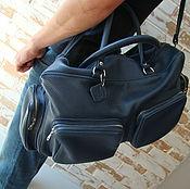 Спортивная сумка ручной работы. Ярмарка Мастеров - ручная работа Стильная кожаная дорожная сумка/ спортивная сумка. Handmade.