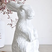 Для дома и интерьера handmade. Livemaster - original item Figurine Rabbit made of concrete Provence large Easter Bunny. Handmade.