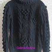 Одежда ручной работы. Ярмарка Мастеров - ручная работа Теплый зимний свитер .. Handmade.
