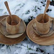 Сервизы ручной работы. Ярмарка Мастеров - ручная работа Набор посуды из дерева для деток. Handmade.