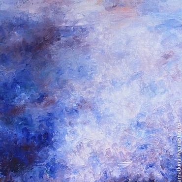 Картины и панно ручной работы. Ярмарка Мастеров - ручная работа Фиолетовое небо - картина маслом на холсте, абстракция, сиреневый. Handmade.