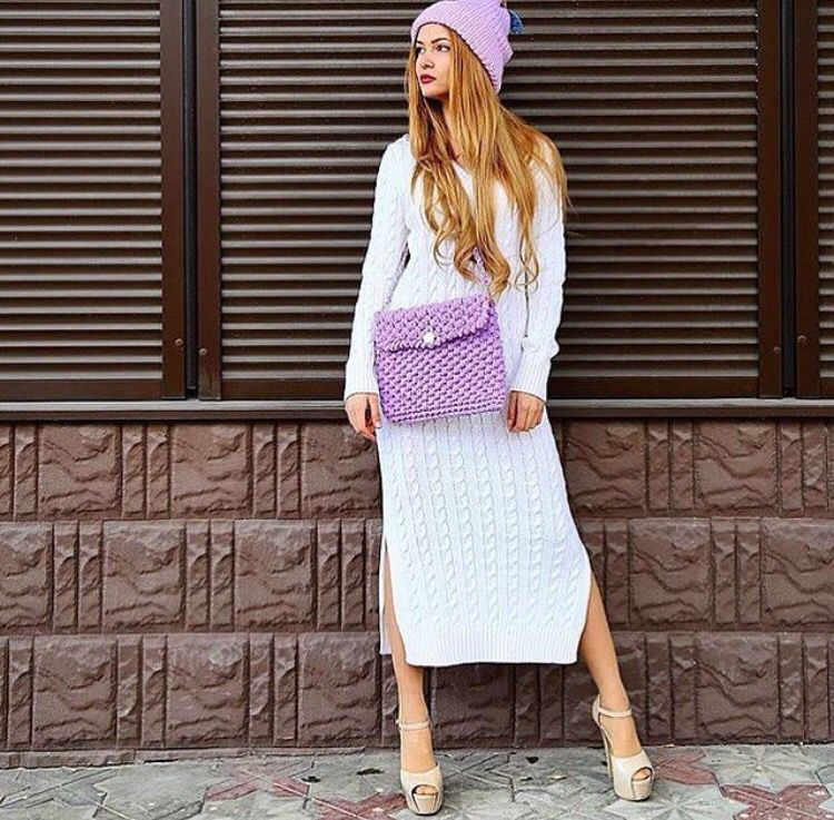 Dress knitted dress stylish dress in the style boho, Dresses, Moscow,  Фото №1