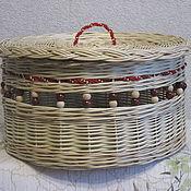 Для дома и интерьера ручной работы. Ярмарка Мастеров - ручная работа Шкатулка с декором, плетёная из лозы. Handmade.