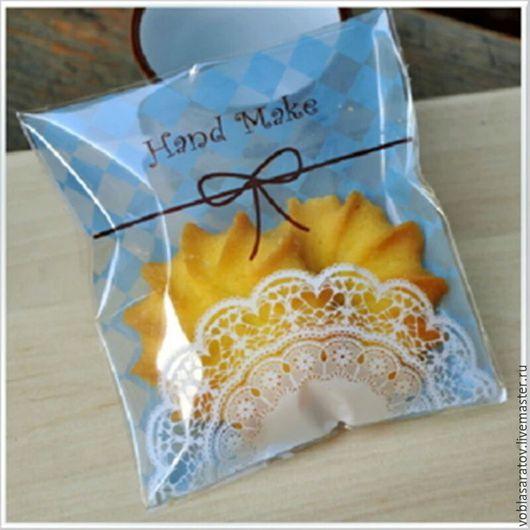 Упаковка ручной работы. Ярмарка Мастеров - ручная работа. Купить Упаковка для изделий ручной работы печенья пряников. Handmade. Голубой
