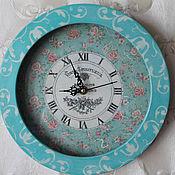 Для дома и интерьера ручной работы. Ярмарка Мастеров - ручная работа Часы настенные Бирюзовый шебби. Handmade.