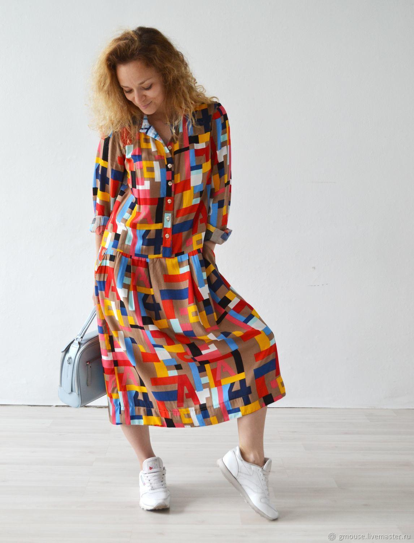 Платье миди с длинными рукавами ТЕТРИС, Платья, Москва,  Фото №1