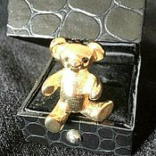 Винтаж handmade. Livemaster - original item Brooch Golden Bear Sphinх. Handmade.