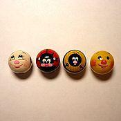 """Сувениры и подарки handmade. Livemaster - original item Магниты: """"Мячик""""  1; Божья коровка 2,""""Пчела 3; Колобок 4   10 штук. Handmade."""