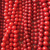 Бусины ручной работы. Ярмарка Мастеров - ручная работа Бусина 6-10 мм Шар, коралл. Handmade.