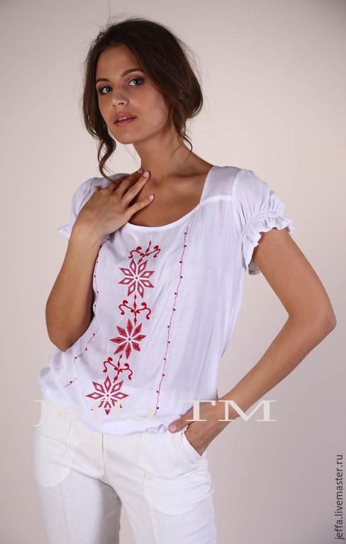 Блузки с вышивкой доставка