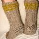 Носки   пуховые  вязанные арт. №55м из собачьей шерсти . Носки связаны из 2-х ссученных ниток . Очень толстые и очень теплые . Длина средняя.  Ручное прядение.Ручное вязание.