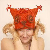 Аксессуары ручной работы. Ярмарка Мастеров - ручная работа шапка Белка. Handmade.