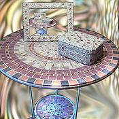 Для дома и интерьера handmade. Livemaster - original item The mosaic coffee table from
