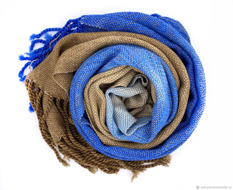 Gradient scarf, hand-dyed, Scarves, Nizhny Novgorod,  Фото №1