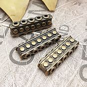 Материалы для творчества handmade. Livemaster - original item Bead separator 5-thread 7x23x5 mm BRONZE (art. 2710). Handmade.