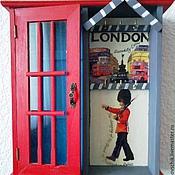 """Для дома и интерьера ручной работы. Ярмарка Мастеров - ручная работа Ключница большая """"Лондонский вояж"""". Handmade."""