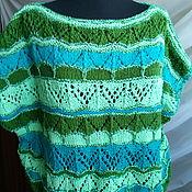 Одежда ручной работы. Ярмарка Мастеров - ручная работа Зеленые узоры. Handmade.