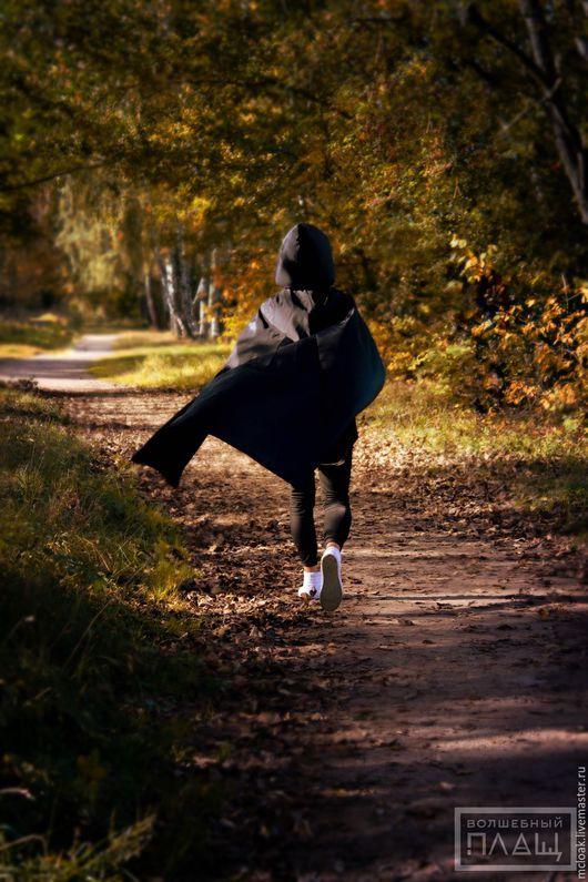 """Верхняя одежда ручной работы. Ярмарка Мастеров - ручная работа. Купить Чёрный плащ """"Ученик мага"""". Handmade. Плащ, викка"""