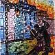 """Часы для дома ручной работы. Часы из стекла """"Танго"""". Мастерская Грань, Томск. Интернет-магазин Ярмарка Мастеров. Радужный, стекло"""