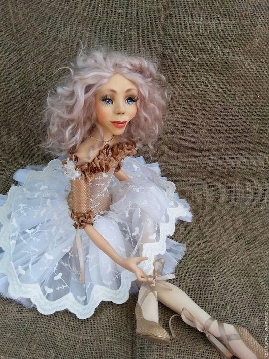 Коллекционные куклы ручной работы. Ярмарка Мастеров - ручная работа. Купить будуарная кукла Балерина. Handmade. Белый, акриловые краски