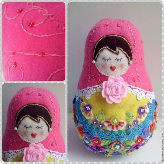 Народные куклы ручной работы. Ярмарка Мастеров - ручная работа. Купить матрешка - текстильная кукла по мотивам работ И.Смольковой. Handmade.