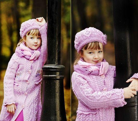 """Одежда для девочек, ручной работы. Ярмарка Мастеров - ручная работа. Купить Пальто для девочки """"Осенний шарм"""". Handmade. Розовый"""
