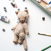 Куклы и игрушки ручной работы. Ярмарка Мастеров - ручная работа Котенок Персик. Handmade.
