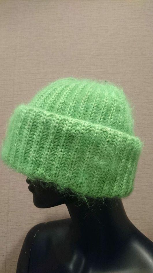 Шапки ручной работы. Ярмарка Мастеров - ручная работа. Купить неоновая шапочка. Handmade. Ярко-зелёный, яркая, кид-мохер