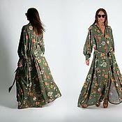 Одежда handmade. Livemaster - original item Women`s summer kaftan with long sleeves - KA0932CV. Handmade.