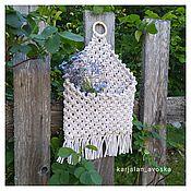 Для дома и интерьера handmade. Livemaster - original item pocket for small items. Handmade.