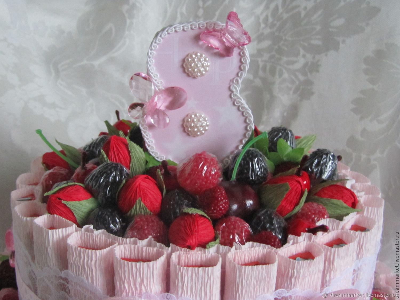 Приглашение, картинки с тортиками и конфетами