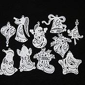 Подарки к праздникам handmade. Livemaster - original item Frost. A set of Christmas ornaments.. Handmade.