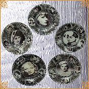 Сувениры и подарки handmade. Livemaster - original item Legends of the cinema. Beauty will save the world ... Interior plates. Handmade.