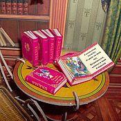 Куклы и игрушки ручной работы. Ярмарка Мастеров - ручная работа Миниатюрные книги. Сказка о золотом петушке. Handmade.