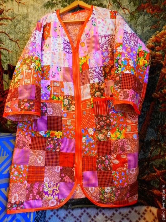 Халаты ручной работы. Ярмарка Мастеров - ручная работа. Купить Лоскутный халат. Handmade. Разноцветный, халатик, лачкутный халат