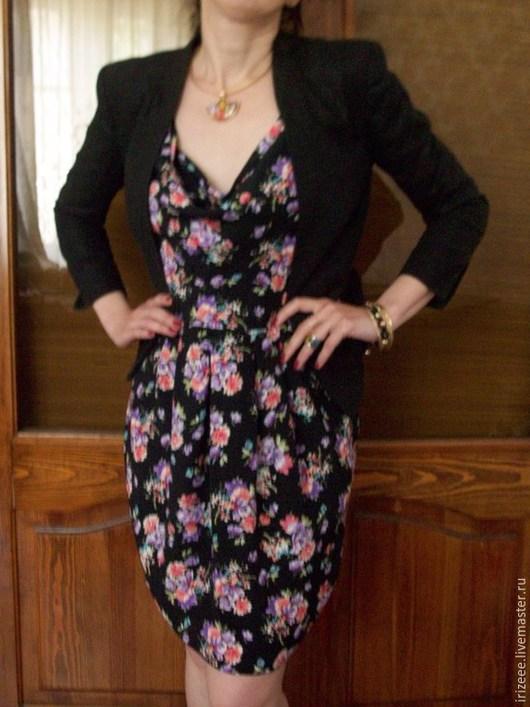 """Платья ручной работы. Ярмарка Мастеров - ручная работа. Купить Платье """"Фрезии"""". Handmade. Разноцветный, платье отрезное, Коктейльное платье"""