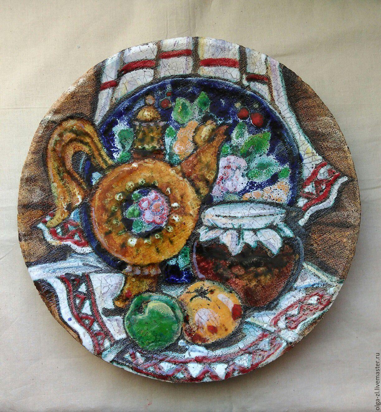 настенная тарелка Натюрморт с яблоками, Подвески, Хотьково,  Фото №1