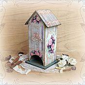 """Для дома и интерьера handmade. Livemaster - original item Винтажный чайный домик """"Чайные розы"""". Handmade."""