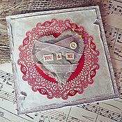 Открытки handmade. Livemaster - original item Card Me&You. Handmade.