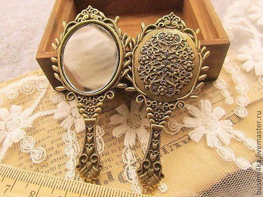 Для украшений ручной работы. Ярмарка Мастеров - ручная работа. Купить Подвеска Зеркало, античная бронза (1шт). Handmade.