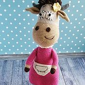 Куклы и игрушки handmade. Livemaster - original item Soft knitted toy Burenka Dasha. Handmade.