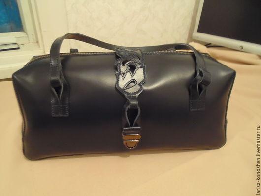 Женские сумки ручной работы. Ярмарка Мастеров - ручная работа. Купить женсакя сумка. Handmade. Тёмно-синий, металлическая фурнитура