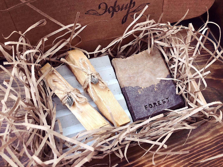 Gift Box. Подарочный набор с мылом, мыльницей и пало санто, Мыло, Омск,  Фото №1